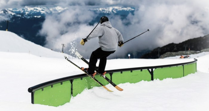 Momentum Ski Camps brand new S-rail   Photo: Momentum Ski Camps Facebook