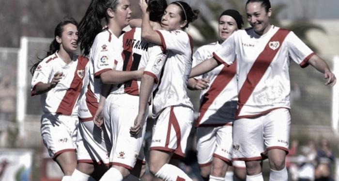 Jugadoras del Rayo Vallecano celebrando un gol   Fotografía: Rayo Vallecano S.A.D