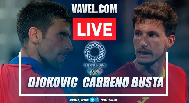 Melhores momentos de Djokovic x Carreño Busta na disputa pelo bronze nas Olimpíadas Tóquio 2020 (1-2)