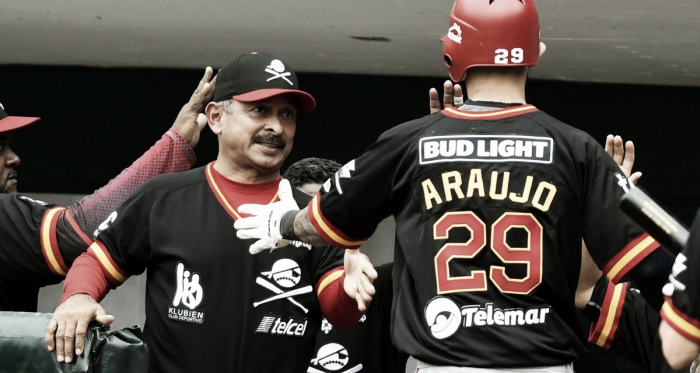 Araujo pegó dos Home Runs en la tarde | Foto: Cortesía Diablos Rojos del México