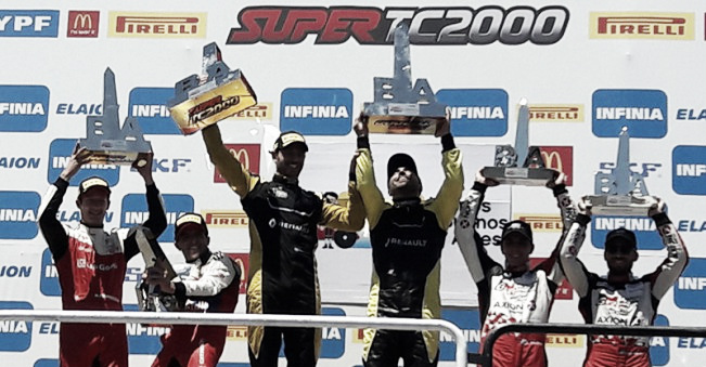 Los tres binomios en el podio | Foto: Súper TC 2000