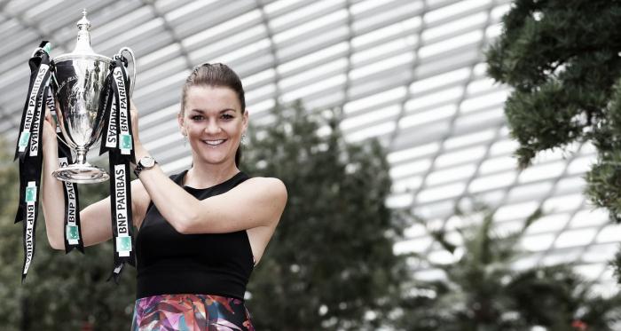 Radwanska cuando ganó el WTA Finals 2015 | Foto: WTA