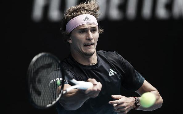 Sascha pegando su drive | Foto: Australian Open