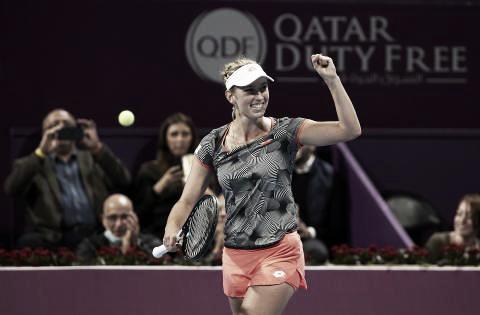 La belga y el puño apretado | Foto: WTA