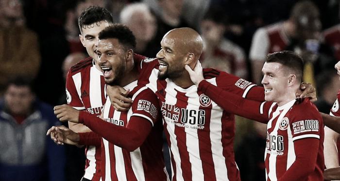 Mousset celebrando el tanto de la victoria / Fuente: Premier League