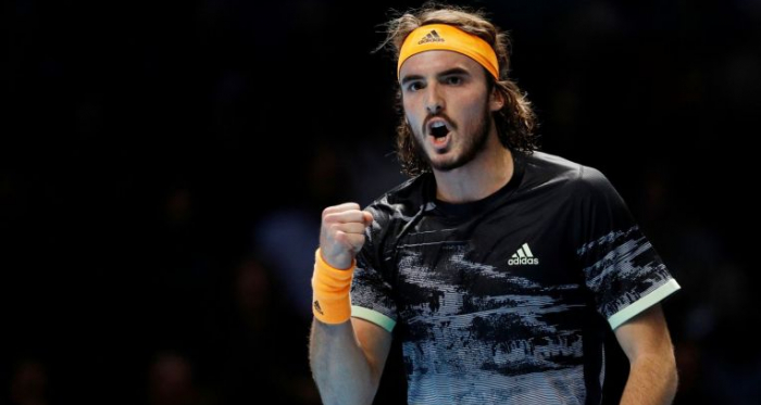 Tsitsipas is fired up after his big win/Photo: Reuters