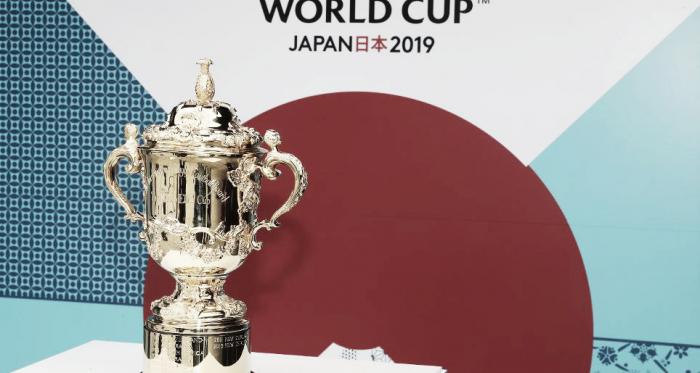 Ella. La más anhelada. La más preciada. Por la que todos trabajan. Por la que todos se esmeran. Con ustedes, la copa William Webb Ellis. ¿Argentina será se adueñará de ella en Japón? Crédito: sitio oficial de la Copa Mundial de Rugby 2019.