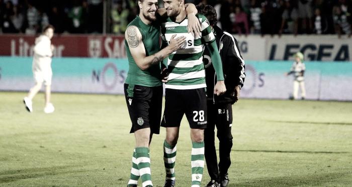 Coates e Bas Dost, dois dos homens-golo do Sporting // Foto: Facebook do Sporting CP
