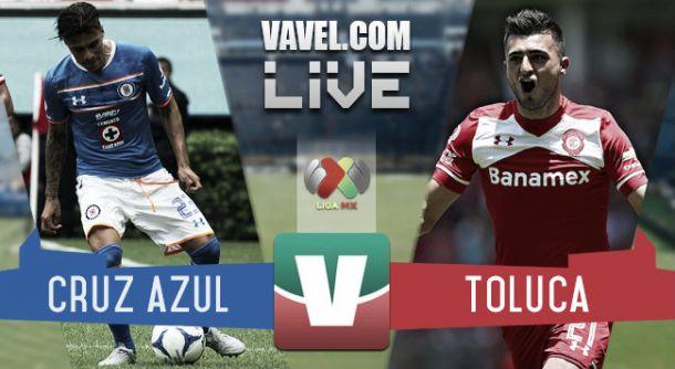 Resultado Cruz Azul - Toluca en Liga MX Apertura 2015 (1-2)