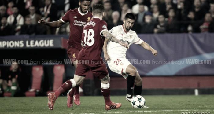 Nolito durante el partido ante el Liverpool en Sevilla / Foto: Fran Santiago