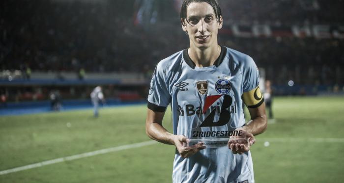 Pedro Geromel foi eleito o melhor atleta da partida (Foto: Lucas Uebel / Grêmio FBPA)