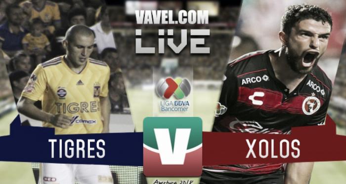Resultado y gol del Tigres 1-0 Xolos en Liga MX Apertura 2018