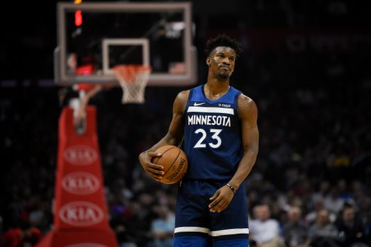 "<span style=""font-style: normal; caret-color: rgb(136, 136, 136); color: rgb(136, 136, 136); font-family: Helvetica, Arial; text-align: left;"">Minnesota Timberwolves guard Jimmy Butler (23) reacts after he is called for a foul during the second quarter against the Los Angeles Clippers at Staples Center</span><span>. 