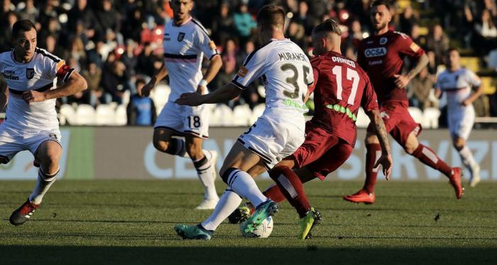 Serie B - Il Palermo è campione d'inverno: vittoria sofferta contro il Cittadella (0-1)