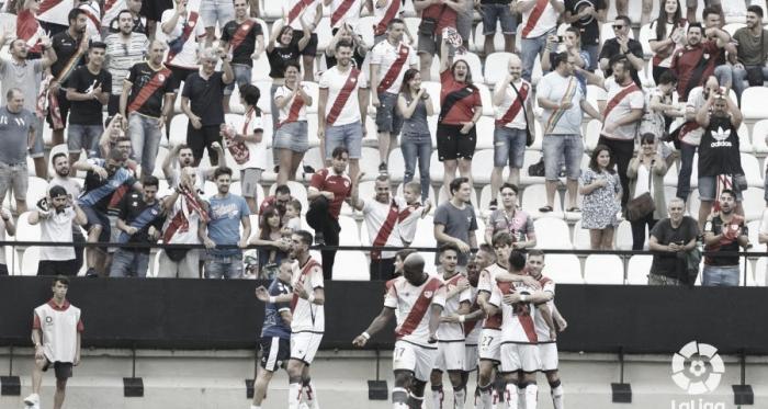 Celebración de uno de los goles ante el Deportivo | Foto: LaLiga SmartBank