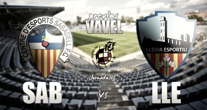 CE Sabadell - Lleida Esportiu: el peor visitante quiere asaltar la Nova Creu Alta
