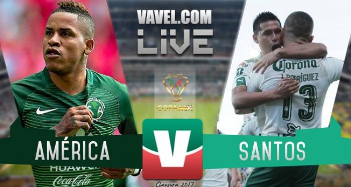 América se impone en Copa ante Santos