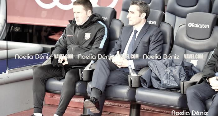 """Ernesto Valverde: """"Alba y Messi se buscan y eso nos beneficia"""""""