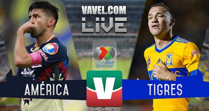 Resultado y gol del América 0-1 Tigres de la Semifinal de ida de la Liga MX 2017