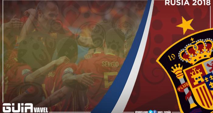Los jugadores de la Selección Española con la primera equipación | Foto: sefutbol.com