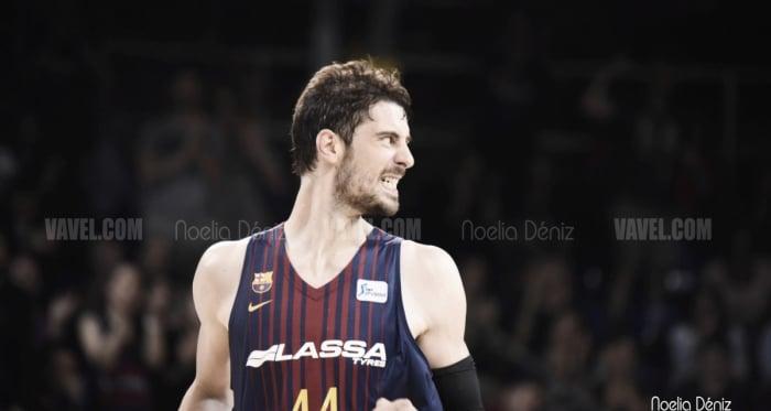 Tomic lideró al Barça hasta la victoria.   Fotografía: Noelia Déniz (VAVEL)