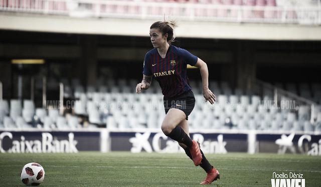 María León, jugadora del FC Barcelona Femenino. FOTO: Noelia Déniz