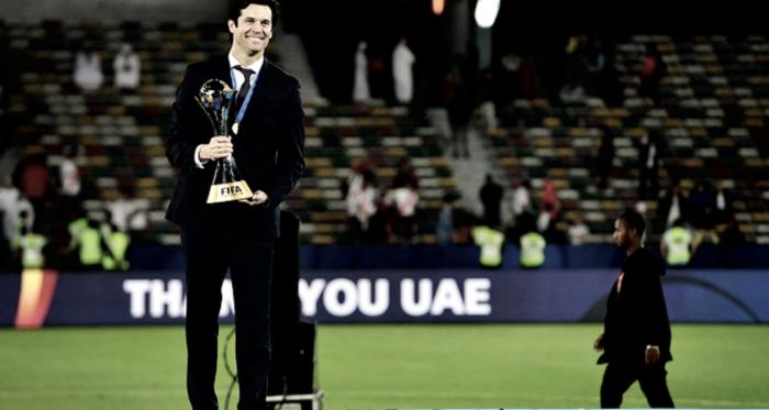 Santiago Solari, campeón como enrtenador y jugador / Foto: Real Madrid C.F.