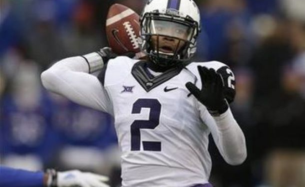 Trevone Boykin looks to lead TCU to an opening night win over Minnesota - AP Photo/Orlin Wagner