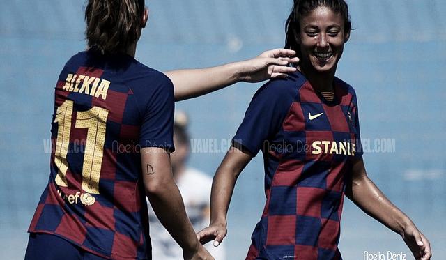 Alexia Putellas y Leila Ouuahabi, jugadoras del FC Barcelona Femenino. FOTO: Noelia Déniz