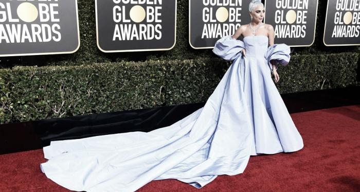 Lady Gaga en los Golden Globe Awards | Foto: Facebook Oficial de A Star is Born