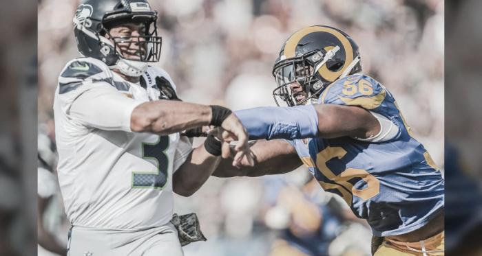 Russell Wilson y Dante Fowler Jr, pilares de las franquicias de los SeahawksyRams (foto Rams.com)