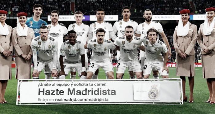Once inicial del Real MAdrid en cláscio de Liga. Foto: Real Madrid C.F