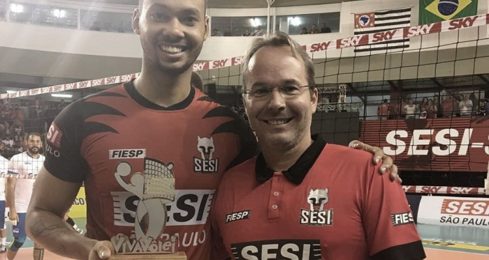 Alan é o destaque do Sesi-SP, que está na final da Superliga (Foto: Juliana Kageyama)