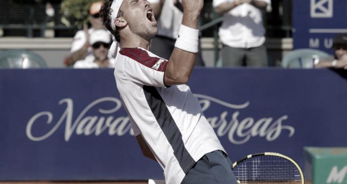 Felicidad encamianda haciala final del Argentina Open de Marco Cecchinato. Foto: Argentina Open.