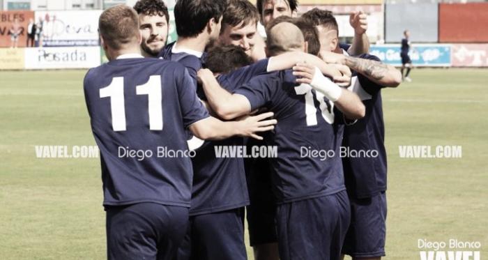 Los jugadores del Marno celebran el primer gol del partido. Foto: Diego Blanco, VAVEL