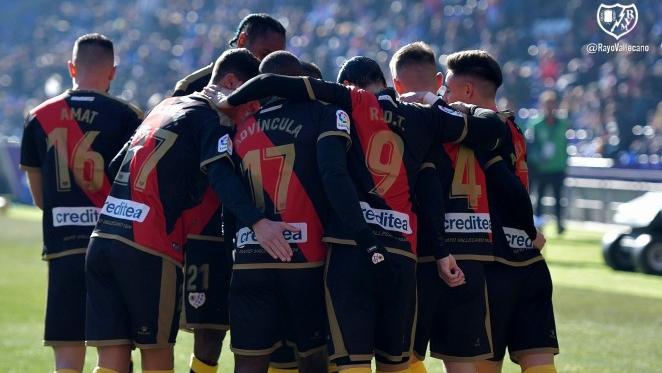 Jugadores del Rayo Vallecano celebrando un gol | Fotografía: Rayo Vallecano S.A.D.