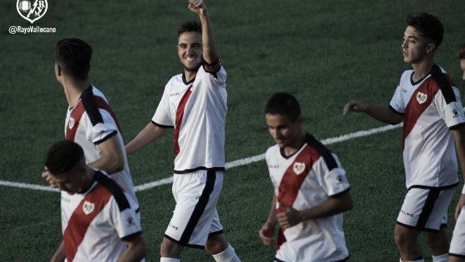 Pipe Sáez celebrando un gol   Fotografía: Rayo Vallecano S.A.D.