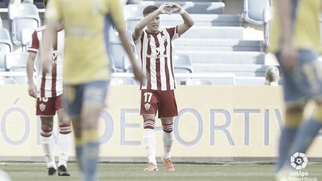 Corpas durante un encuentro disputado esta temporada. // Foto: Web UD Almería