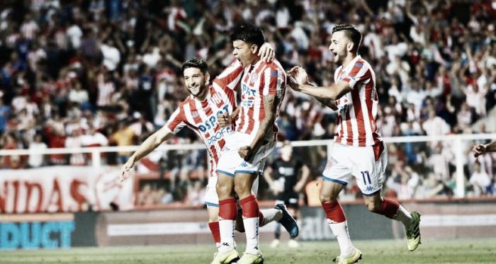 Bou y una nueva conquista. Ya lleva cuatro en la Superliga. Foto: Club Atlético Unión.
