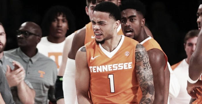 Lamonte Turner reacts during Tennessee's win in the Bahamas/Photo: USA Today Sports