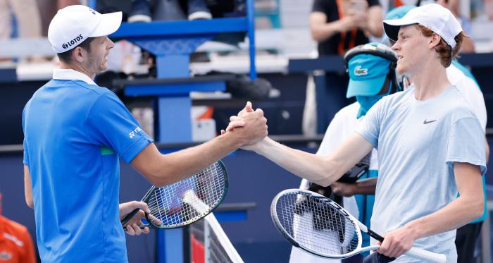 A Miami, Sinner perde la sua prima finale ATP contro Hurkacz