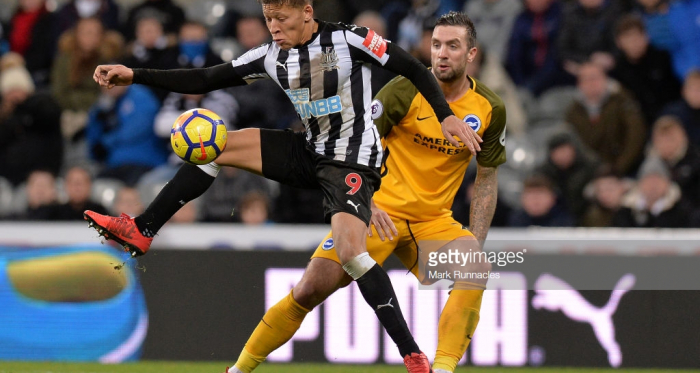 Dwight Gayle (left), Shane Duffy (right) | Photo: Getty Images - Mark Runnacles