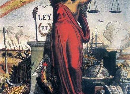 Alegoría de la I República Española, Fuente: Wikicommons