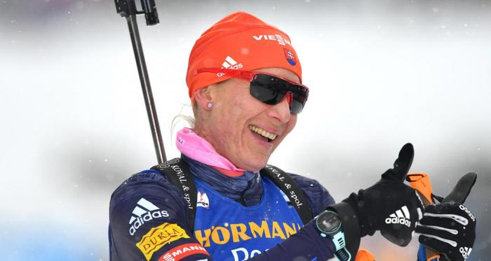 Kuzmina, championne du monde du sprint.