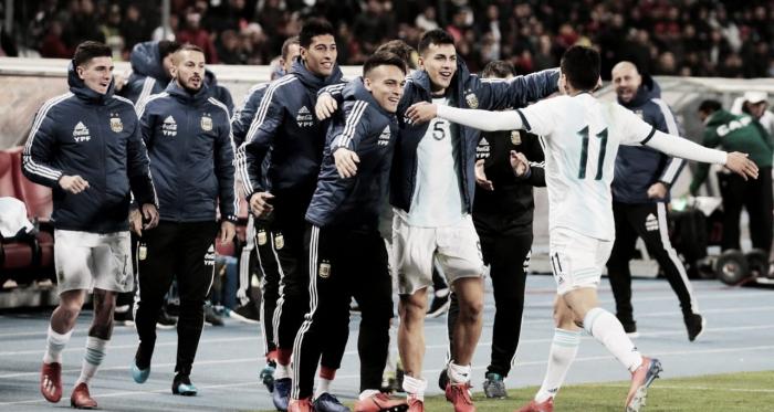 Ángel Correa marcó su segundo gol con la camiseta Argentina, en 11 partidos jugados.