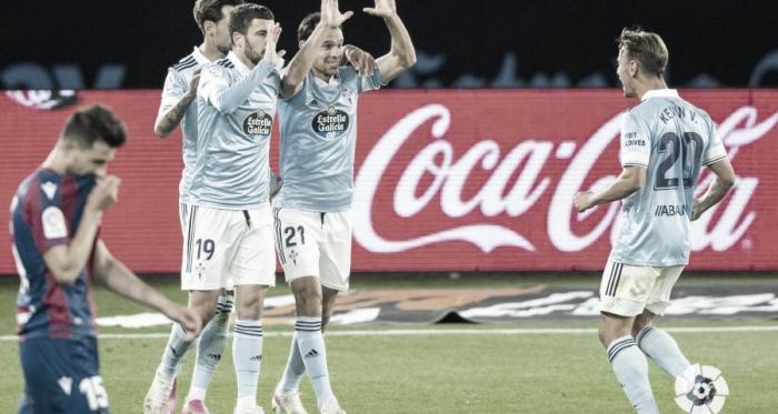 Celta 2-0 Levante: 44 puntos y a soñar... con bajas