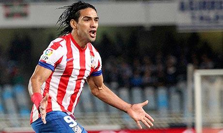 Falcao, primeiro jogador do Atlético a marcar cinco gols na Liga