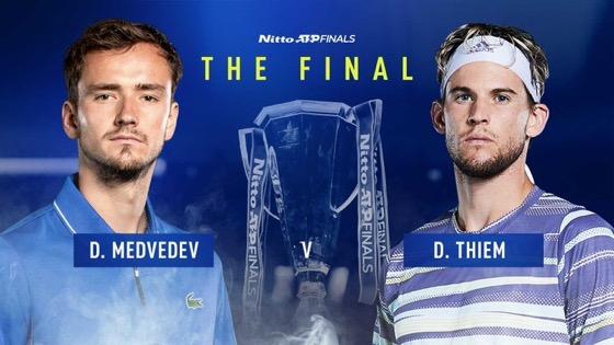 ATP Finals Londra: La finale è Thiem-Medvedev