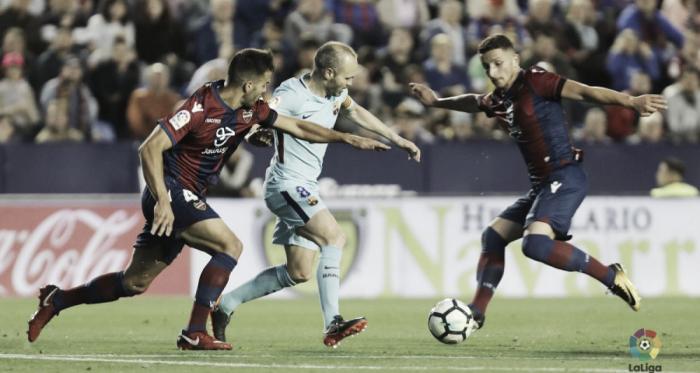 Andres Iniesta contro il Levante. Fonte: LaLiga.es