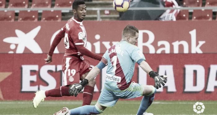 Alberto durante un partido. Fotografía: La Liga